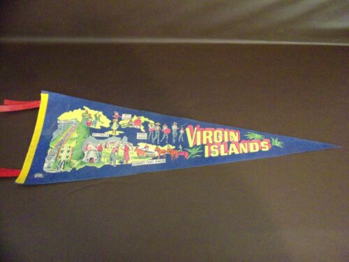 Vintage Virgin Islands Souvenir Felt Pennant