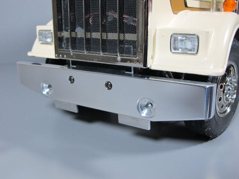 Custom Aluminum Front Bumper Guard Tamiya 1/14 Semi King Grand Hauler Globeliner