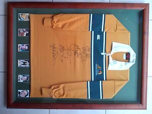 Framed Wallabies signed Jersey Sippy Downs Maroochydore Area Preview