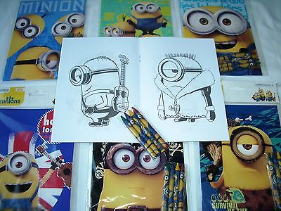 (Despicable me Minions Coloring Book & Crayon Set Child Party Favors Bag Fillers)
