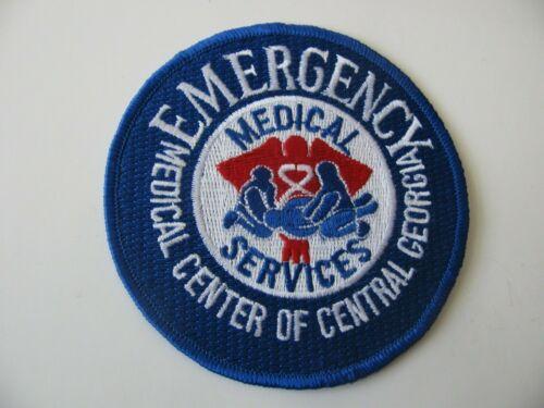 "Central Georgia GA Emergency Medical EMT Rescue Fire Dept Patch Iron On 4"" Rare"