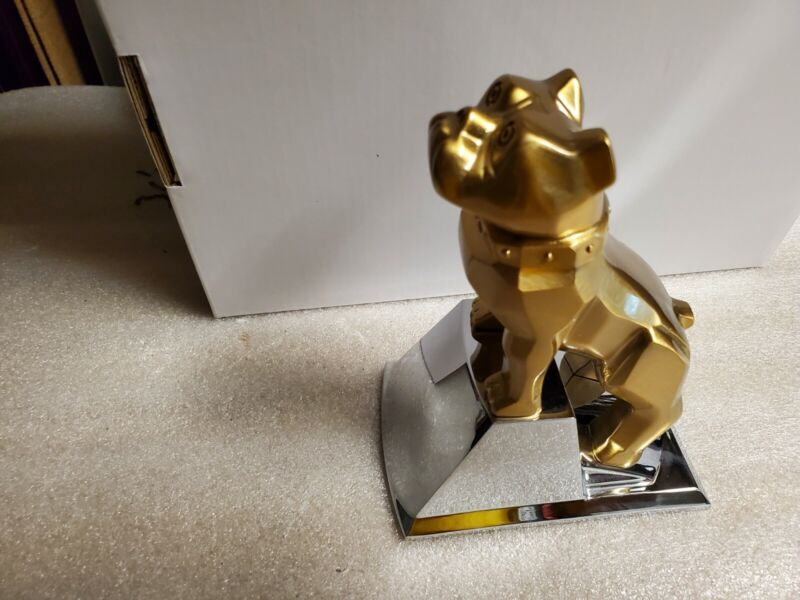 Brand New Gold Plated Mack Bulldog Assembly on Chrome base