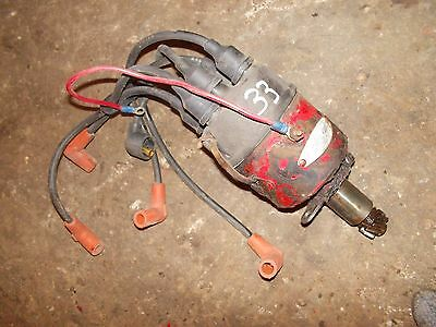Massy Harris 33 Tractor Engine Motor Distributor Drive Assembly W Plug Wires