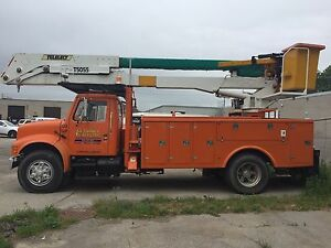 91 International bucket truck, 55' boom