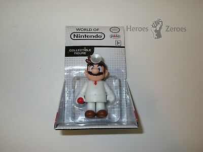 Jakks Pacific World Of Nintendo Dr  Mario 2 5In  Figure New 2017 Nib