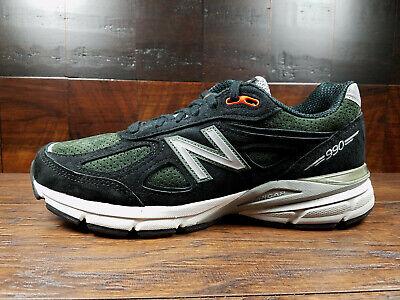 New Balance M990MB4 Suede Mens Running 990v4 (Black/Green/Orange) Made in USA