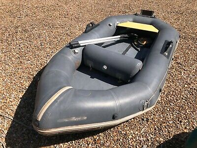 Avon Redcrest inflatable yacht tender dinghy stainless outboard bracket oars etc