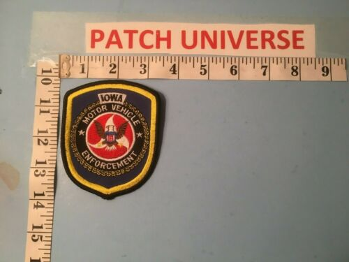 IOWA MOTOR VEHICLE ENFORCEMENT  SHOULDER PATCH  P081
