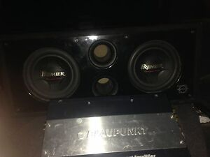 Subs and amp car