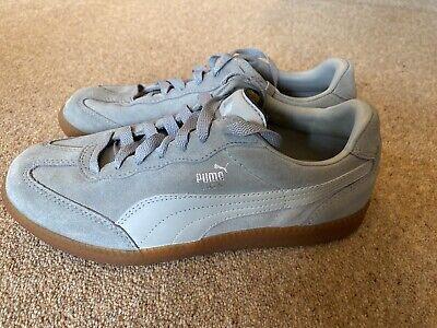 Grey Puma Liga Trainers UK Size 5