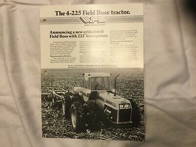 White 4-225 Field Boss Tractor 2 Pages Sales Brochure