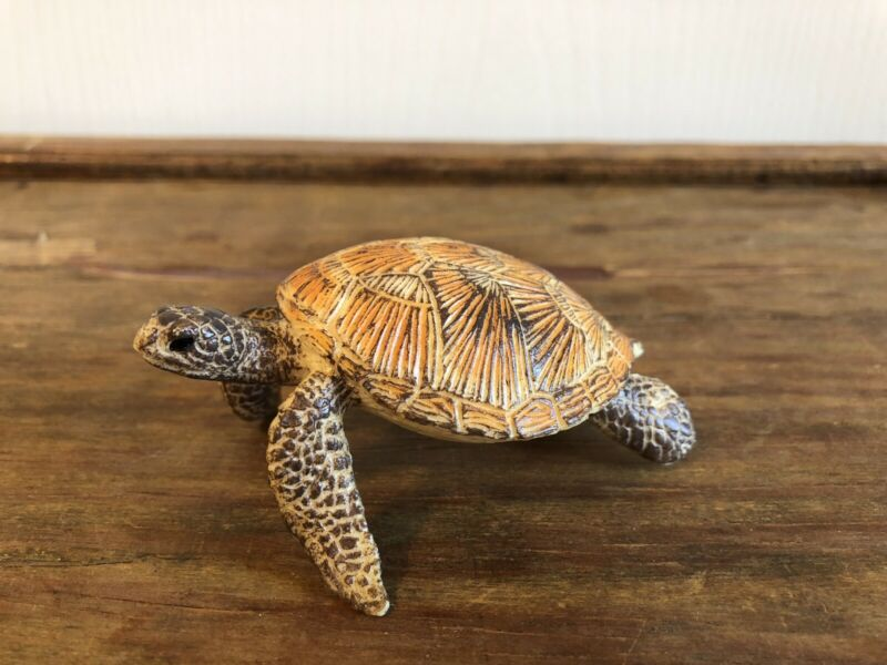 Schleich Sea Turtle Figure 14695 Retired Toy Sea Turtle