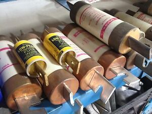 Assorted used  fuses and breakers