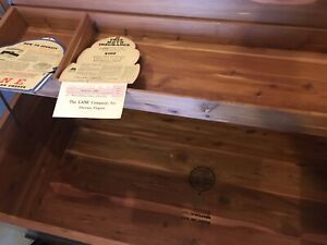 Cedar chest with certificate