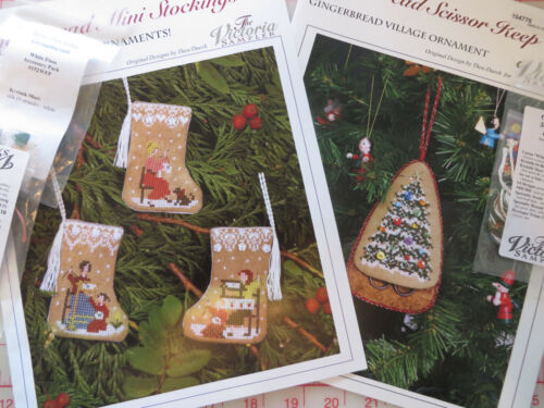 GINGERBREAD VILLAGE Chart + Acc. Pack - MINI STOCKINGS or SCISSOR KEEP YOU PICK