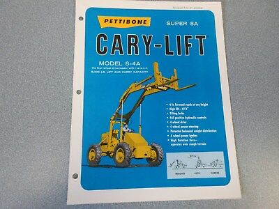 Rare Pettibone Cary Lift Super 8a Sales Sheet