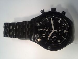 Fossil Mens black chronograph watch London Ontario image 2