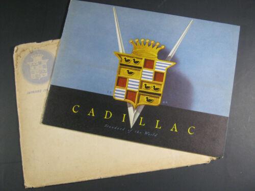 1946 CADILLAC MAILER IN ENVELOP PRESTIGE CATALOG  BROCHURE ORIGINAL