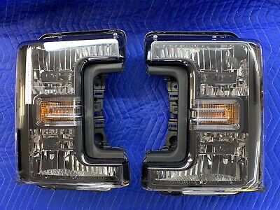 OEM 2017-2019 Ford Super Duty Head Light BLACK SPORT MODEL PAIR