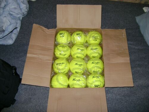 "Dudley 4E199Y 12"" Thunder ZN NSA ICON Composite Slowpitch Softballs, 1 Dozen"