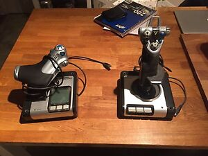 Saitek X52 Flight control system joystick and throttle