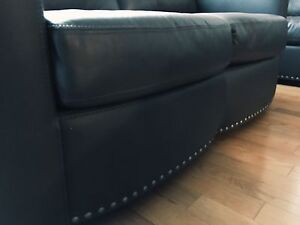 Stylish grey couch and love seat