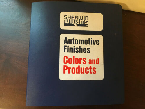 Sherwin Williams Automotive Finishes, Colors & Products 1978-1987, Books, binder
