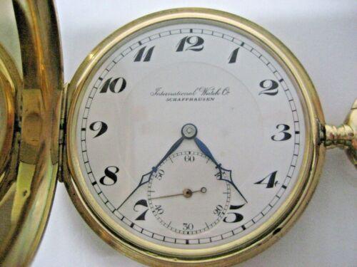 IWC - Taschenuhr 585 Gold Baujahr 1919