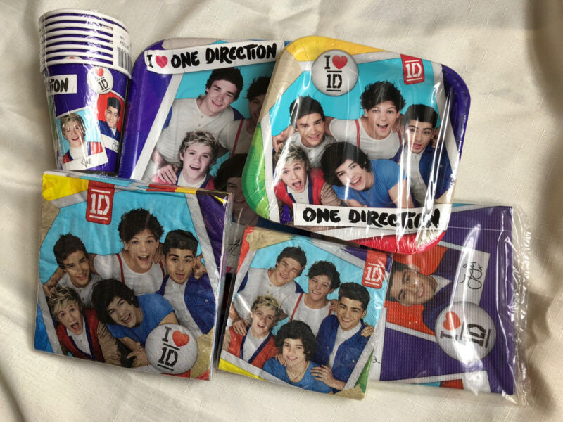 One Direction Tableware Plates, Napkins, Cups, Tablecover