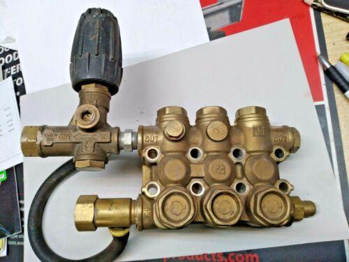 USED - GP EZ4040G  Pump Head Manifold W/ -Unloader, Valves & Seals) -  #44120641