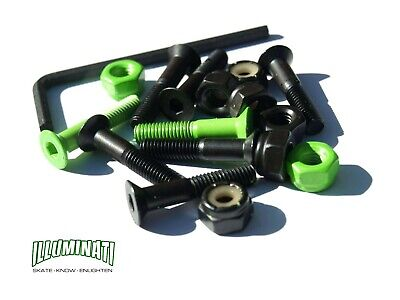 """1.25"""" Illuminati skate systems truck 'Enlightning' bolts with allen key"""