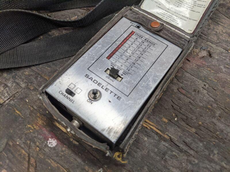 Sadelco Mini VHF Signal strength Level Meter Mini VTG SADELETTE -2to22dBmV catv