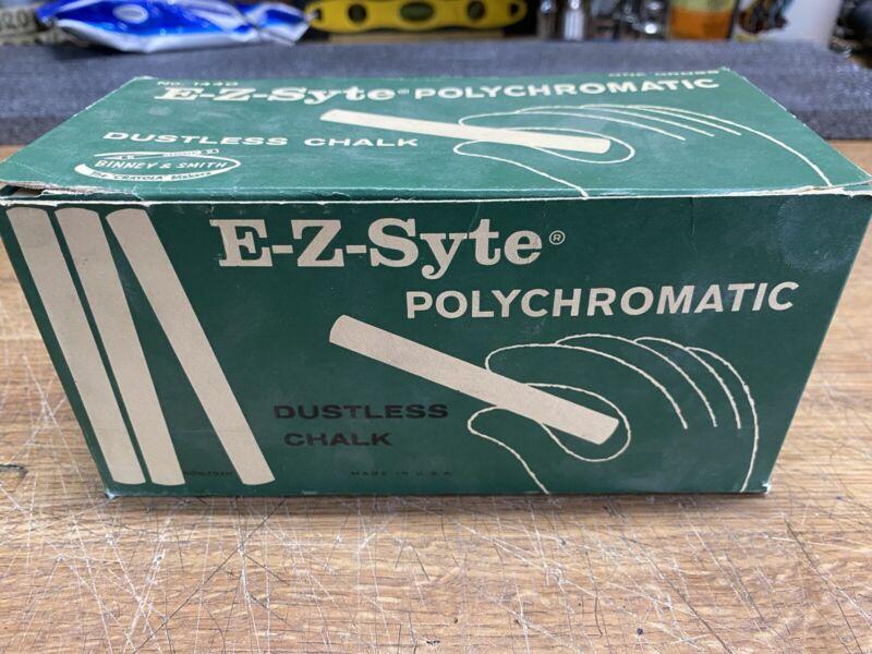 E-Z Syte Polychromatic Dustless Chalk Vintage Binny & Smith Co New York Crayola