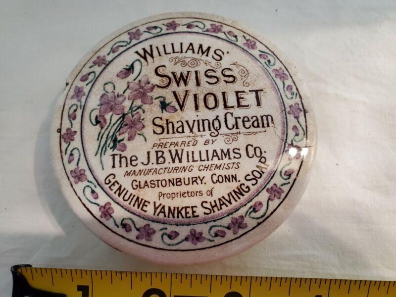 Williams Swiss Violet Shaving Cream Pot Lid