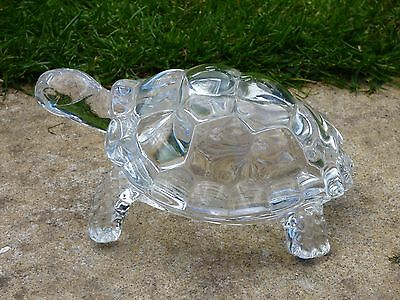 LARGE HEAVY MURANO TORTOISE TURTLE LEAD ART GLASS DESK PAPERWEIGHT DOORSTOP 2KG