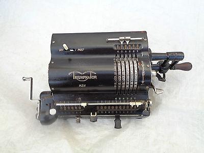 Rechenmaschine Triumphator HZN mit Rechnung und Gewährschein