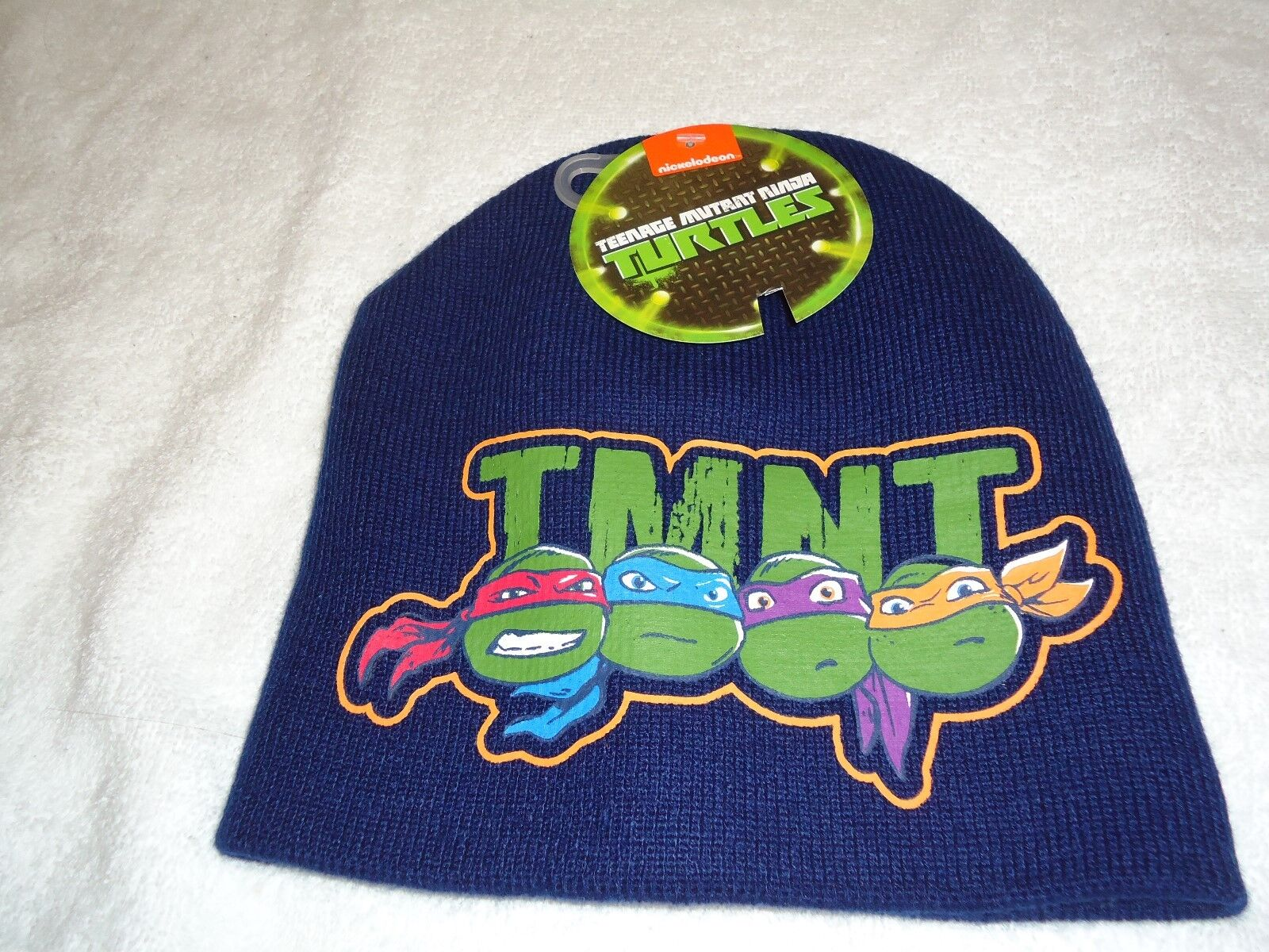 Boys Nickelodeon Ninja Turtles Winter 2 Piece set Beanie Hat /& Gloves Red