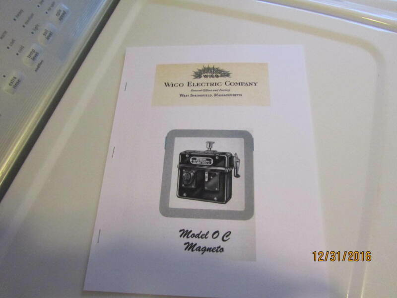 Wico Magneto Type OC Service & Parts Manual  oilfield oilwell engines