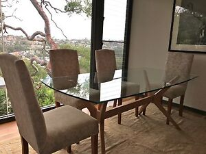 Classic Eight Piece Set Re-Apolstered Dining Chairs Castlecrag Willoughby Area Preview