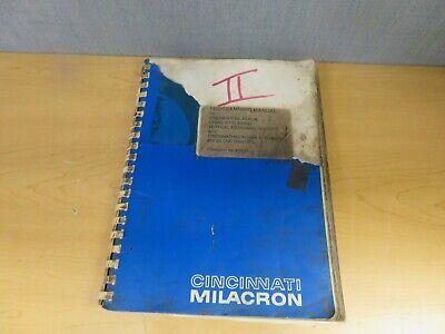 Cincinnati Milacron Sabre Ert With Acramatic 850sx Programming Manual 16472