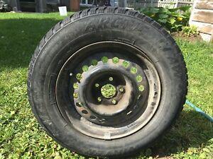 Winter Tires on Steel Rims 195/70R17