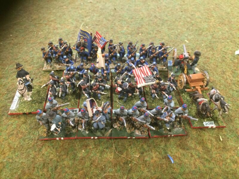 15mm ACW Union painted metal wargame miniatures