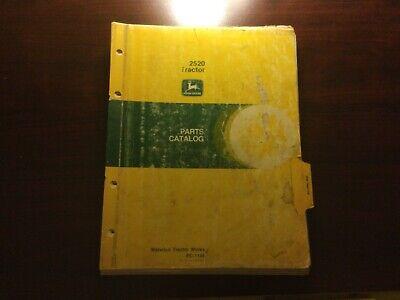 John Deere 2520 Tractor Parts Catalog