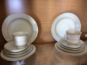 4 place setting China set with gravy boat