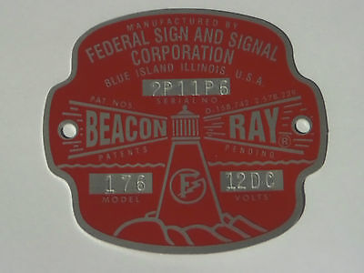 Federal Sign And Signal Model 176 Beacon Ray Replacement Badge