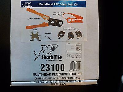 23100 5in1 Pex Crimp Ring Tool Kit Pex Cutter Gage Hex Key Cast Copper Plumbing