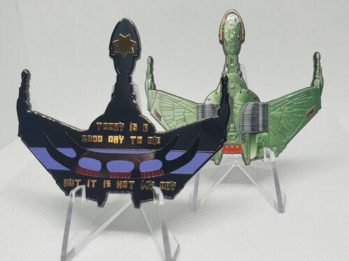 Star Trek Klingon Bird of Prey Police Thin Blue Line Challenge Coin