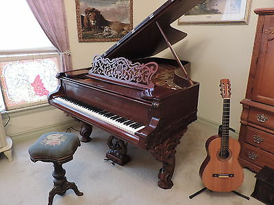 Gorgeous Antique 1882 Weber Rococo Cabriole 6'3