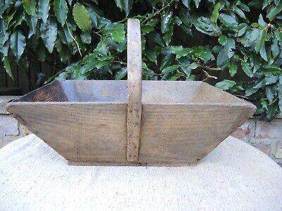 Vintage French  Wooden Trug  Garden Basket  46 cm long (340)