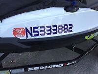 Custom Vinyl stickers - boat numbers - names and more!